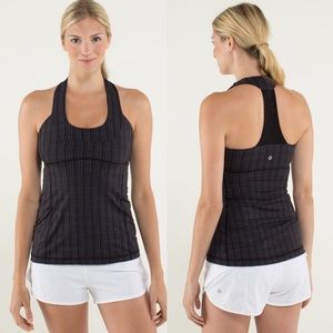 Lululemon Scoop Neck Tank In Ziggy Wee Black